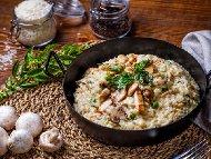 Рецепта Ризото с бял ориз, пиле и гъби в тенджера или тиган